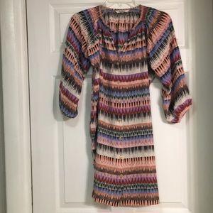 Tucker Silk Shirt Dress